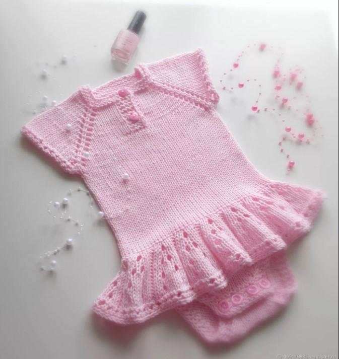 Боди розовое для девочки