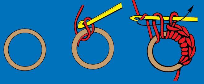 Браслет крючком схема 3