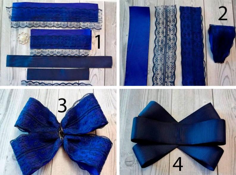 Брошь галстук пошагово 1-4