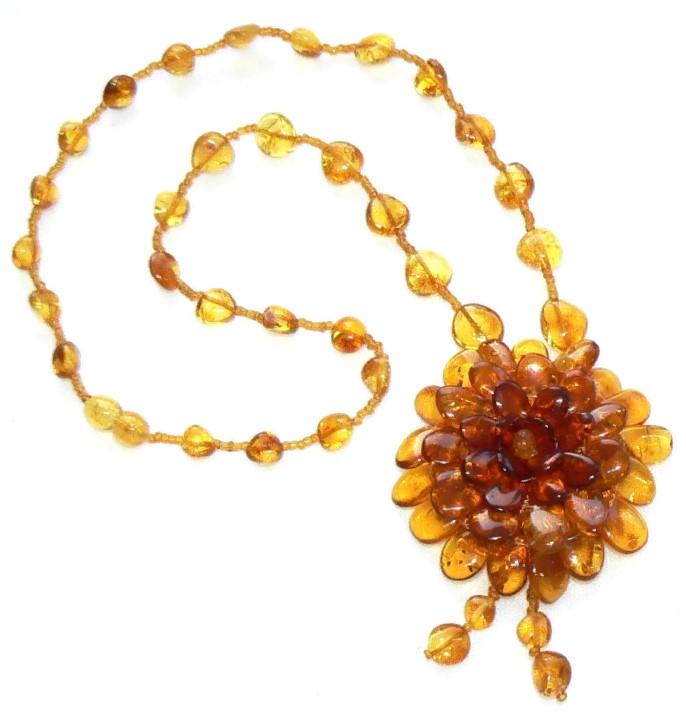 Бусы из янтаря ожерелье своими руками