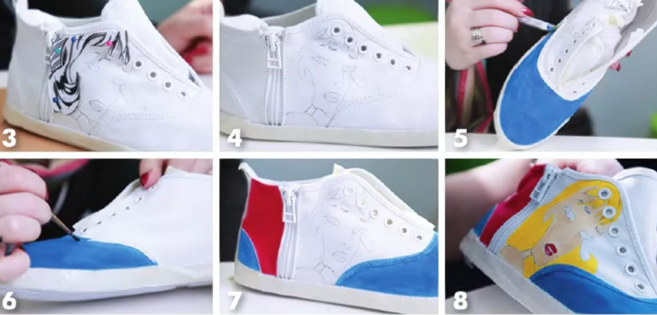 Кроссовки чем красить 8