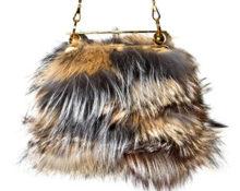 Меховая сумка маленькая клатч