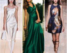 платья из шёлка