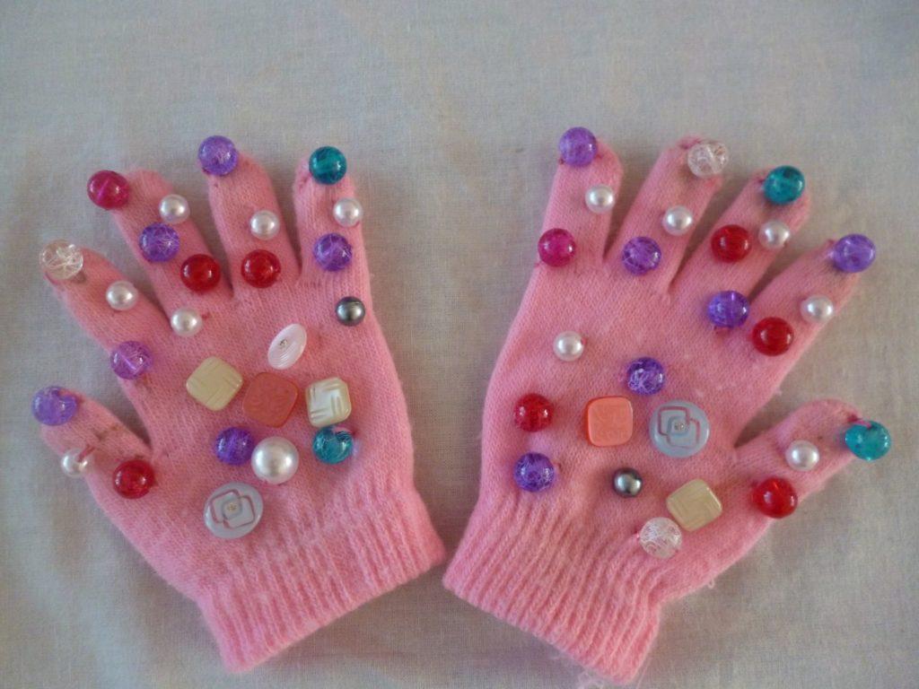 перчатки детские для массажа своими руками