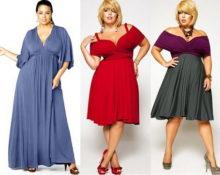 Платья для полных дам без бретелек 3
