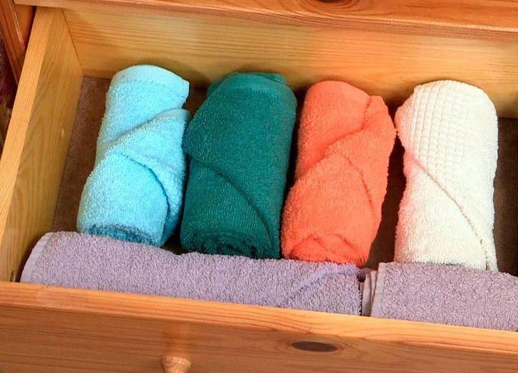 Полотенце как удобно хранить