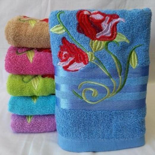 Полотенце махровое разных цветов 6