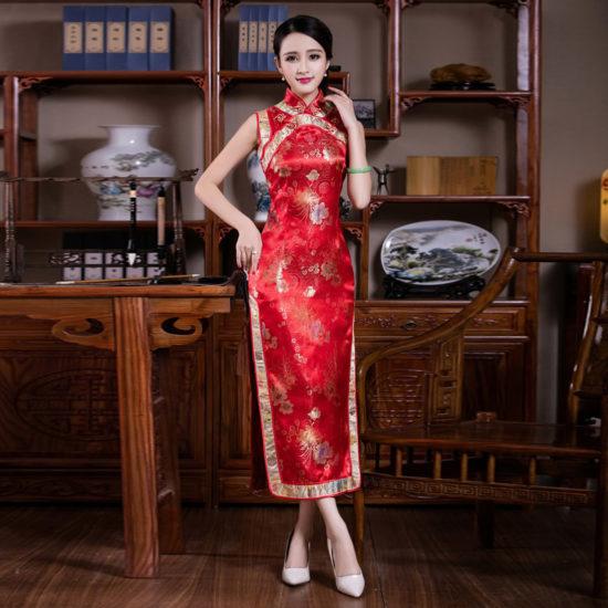платье из шёлка в китайском стиле