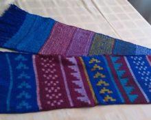 шарф на вязальной машине