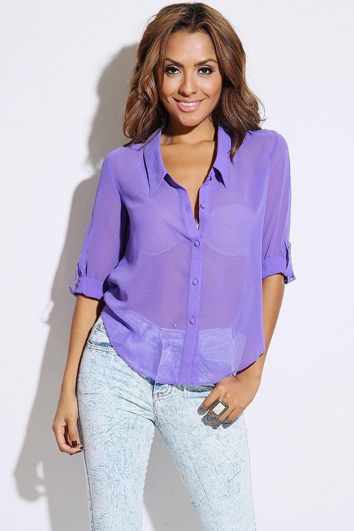 Шифон блузка с джинсами