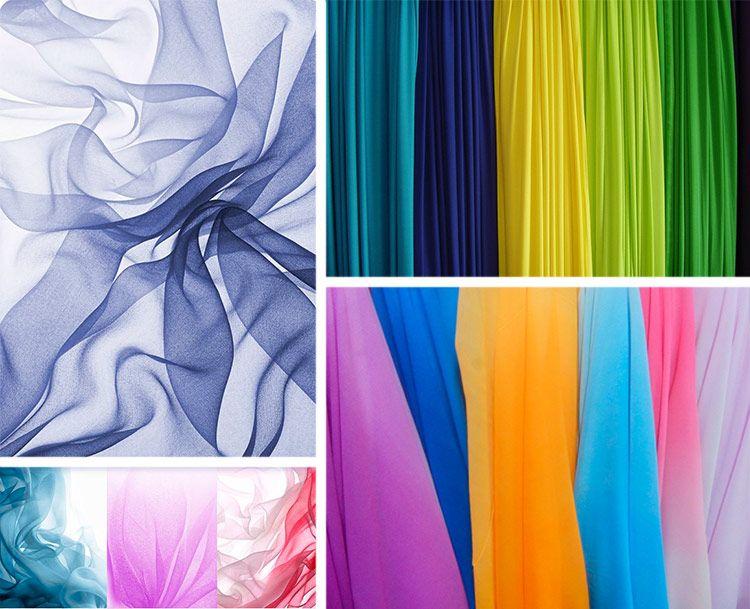Шифон ткань разных цветов