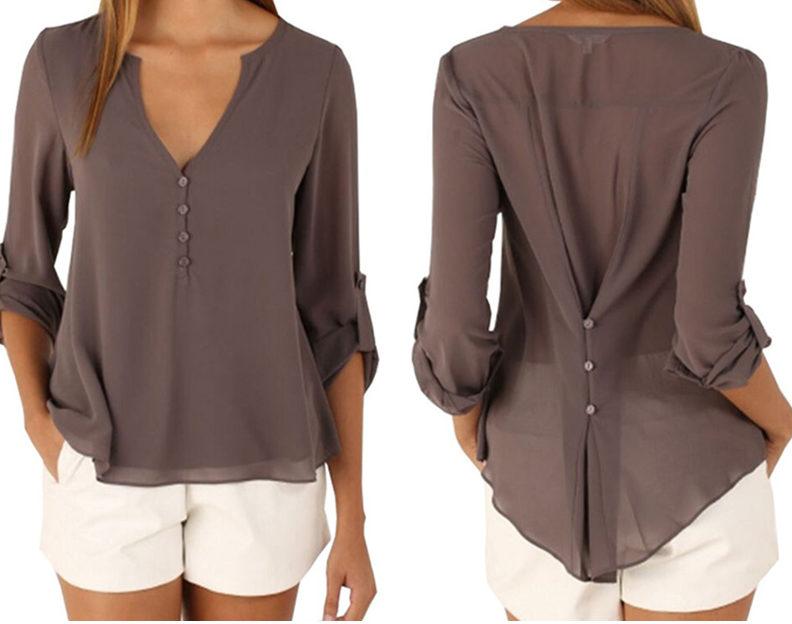 Шифоновая блузка с шортами
