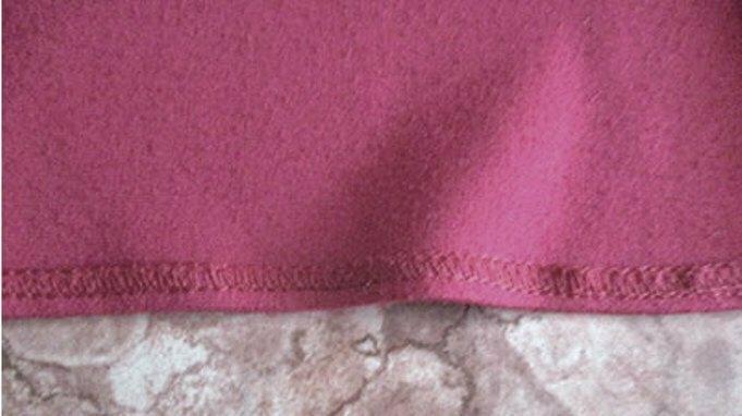 Шов подшивка широкой юбки