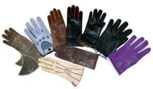 цветные кожаные перчатки