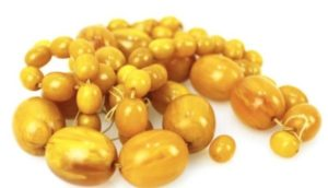 желтые бакелитовые бусы