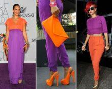 фиолетовый с оранжевым