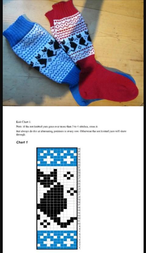 Узоры для носков детские рисунки