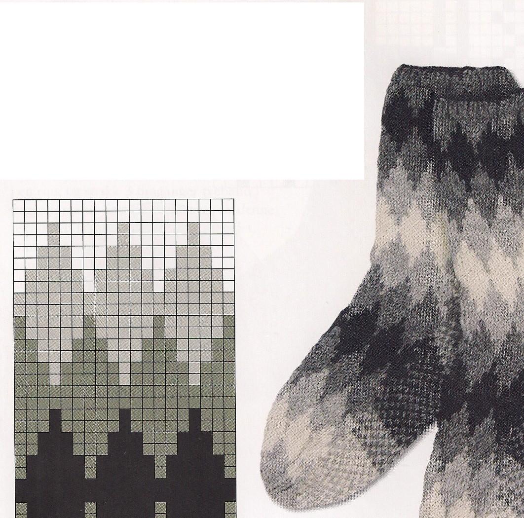Узоры для носков мужские 2