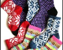 Узоры для носков разные цвета