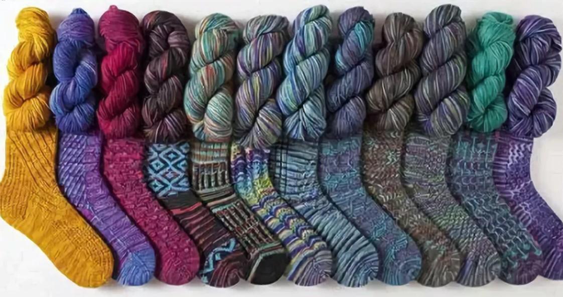 Узоры для носков теплая пряжа