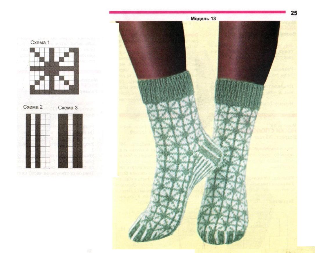 Узоры для носков женские 1