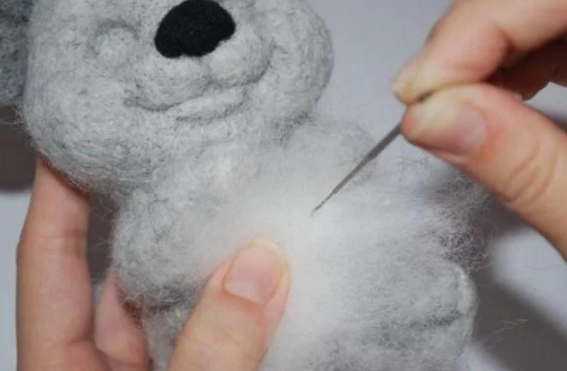 Валяние из шерсти распушить изделие