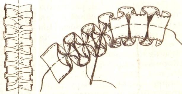 Юбка с оборками присборить ленту