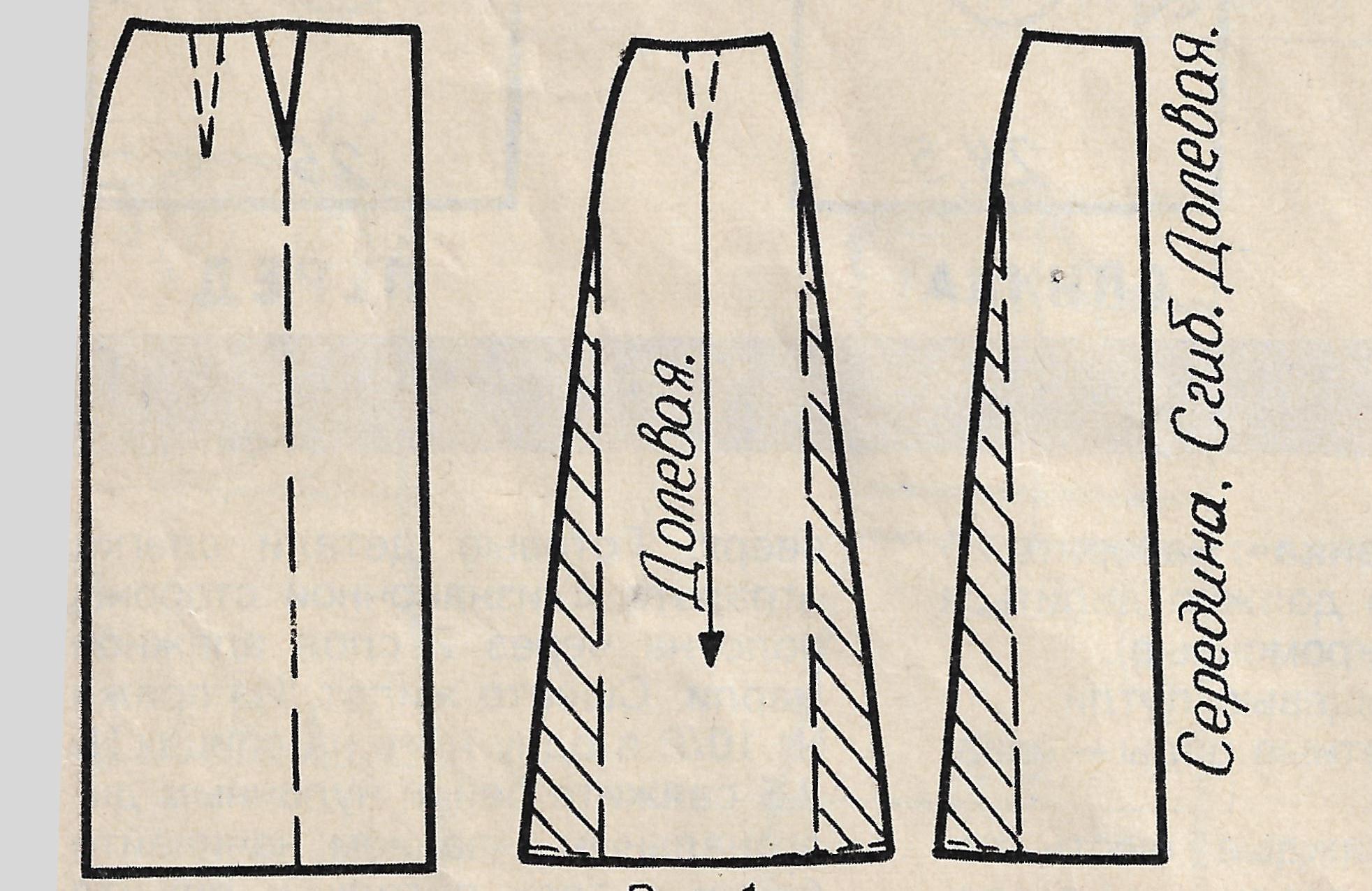 Юбка шестиклинка клин