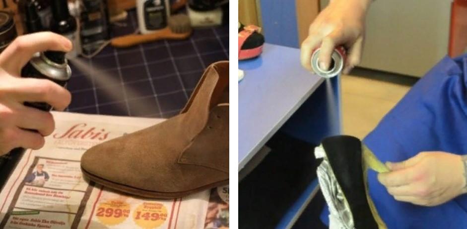 Замша искусственная окрашивание обуви спрей