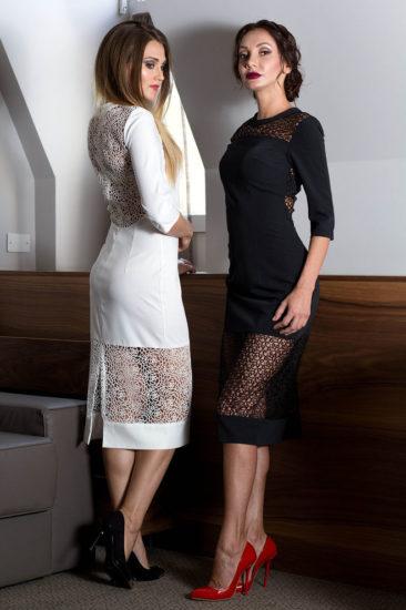 шёлковые платья и вставки