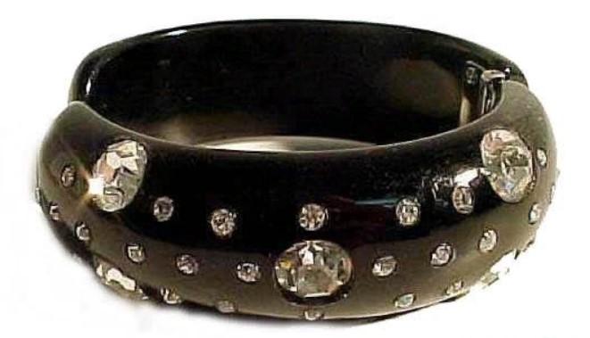 бакелит черный браслет