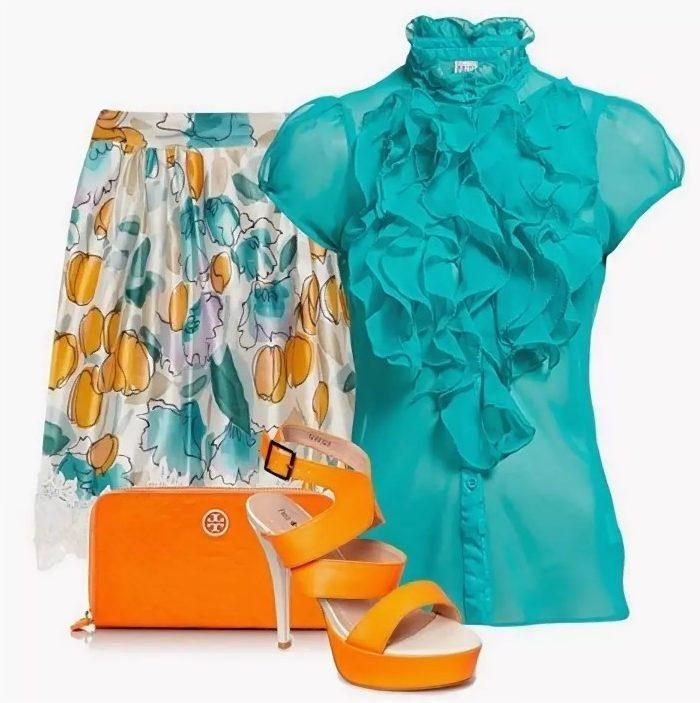 бирюзовый цвет блузка