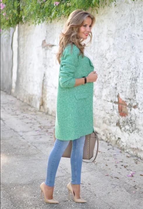бирюзовый цвет джинсы