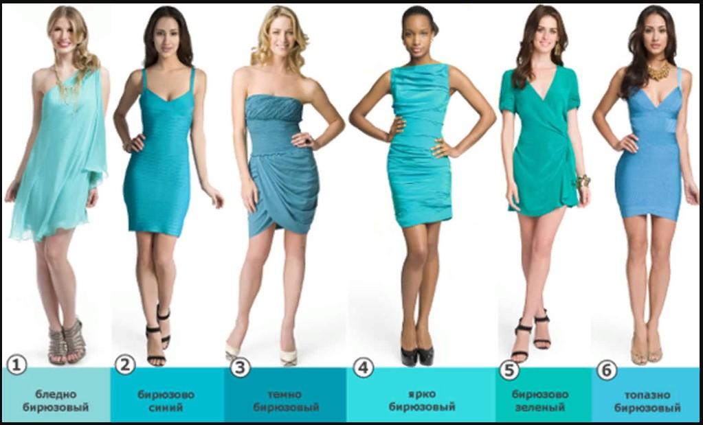 бирюзовый цвет платья