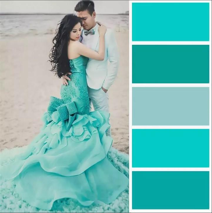бирюзовый цвет свадьба