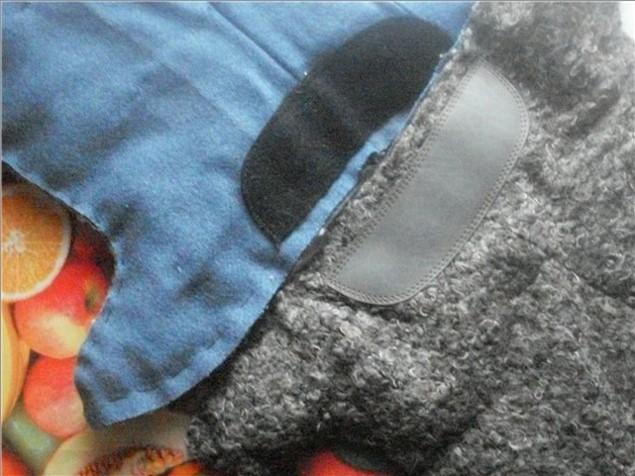 бурки сшиваем 2 материала подкладку