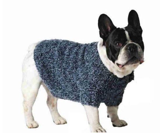 свитер для собаки из меланжевой пряжи