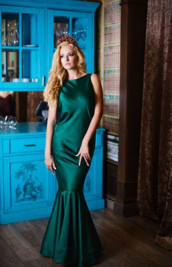 платье-русалка из шёлка