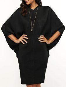 черное платье летучая мышь