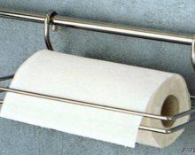 держатель для бумажных полотенец на рейлинг