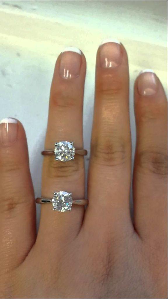 фианит или бриллиант в кольце