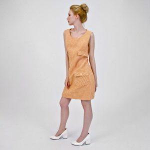 фасоны платьев шанель из твида с заниженной талией