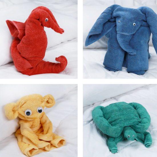 игрушки из полотенец