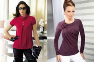 блузы из трикотажа