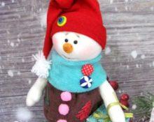 выкройка снеговика из флиса