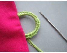 как сделать воздушную петлю из ниток