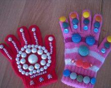 массажные перчатки