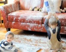 как почистить замшевый диван?