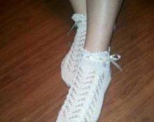 как носить ажурные носки