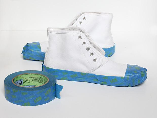 как покрасить подошву кроссовок